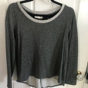anthropologie sweater with laced-up back